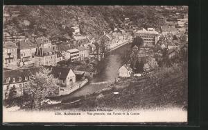 AK Aubusson, vue générale avec la rue Vaveix et la Creuse