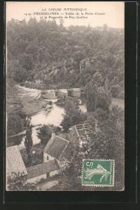 AK Fresselines, vallée de la petite Creuse et la passerelle de Puy-Guillon