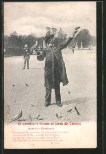 AK Paris, Le Charmeur d`Oiseaux au Jardin des Tuileries