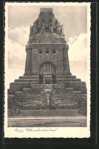 AK Leipzig, Fassade des Völkerschlachtdenkmals