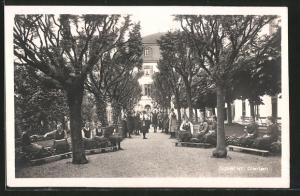 AK Menzingen, Institut, Spiel im Garten