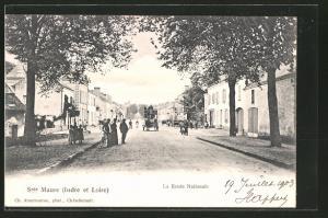 AK Sainte-Maure, la Route Nationale