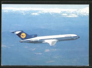 AK Lufthansa B 727 Europa Jet über Gebirge