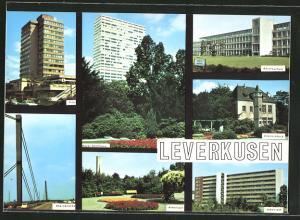 AK Leverkusen, City, Bayer-Hochhaus, Rheinbrücke, Berufsschule, Doktorsburg