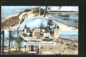 AK Bourgenay-le-Veillon, le château, la côté sauvage et la plage