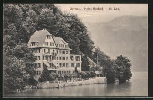 AK Gersau, Kahnpartie am Hotel Seehof - du Lac