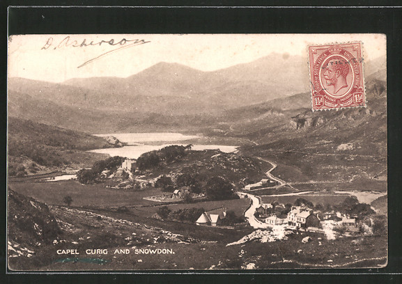 AK Capel Curig, Panorama and Snowdon 0