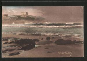 AK Newquay Bay, Strandpartie bei stürmischer See