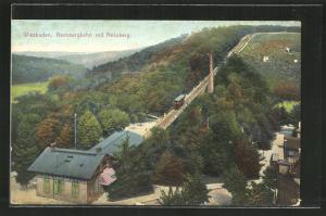 AK Wiesbaden, Nerobergbahn mit Neroberg
