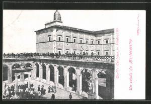 AK Cassino, Montecassino. Cortile Centrale in Pentecoste