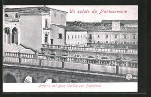 AK Cassino, Montecassino. Interno del gran Cortile con Foresteria
