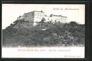 AK Cassino, Montecassino. Lato Occidentale della Badia - Convitto e Osservatorio