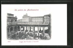 AK Montecassino, Loggia del Paradiso e Convitto