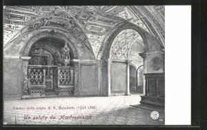 AK Montecassino, Interno della cripta di S. Benedetto