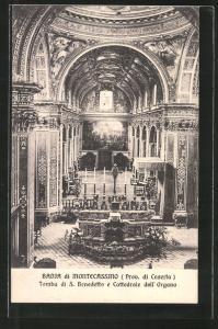 AK Montecassino, Tomba di S. Benedetto e Cattedrale dall` Organo