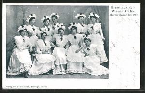 AK Herne, Bazar 1901, Wiener Cafe, Gruppenbild junger Frauen