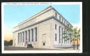 AK Birmingham, AL, Public Library, 21st Street and Park Avenue