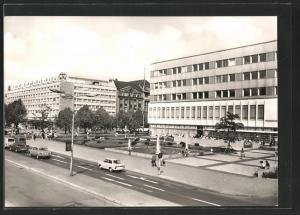 AK Berlin, Blick zu den Hotels Unter den Linden und Lindencorso
