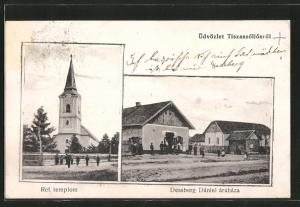 AK Tiszaszölös, Ref. templom, Dessberg Dániel árúháza