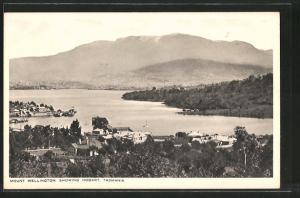 AK Hobart / Tasmania, Teilansicht mit Mount Wellington