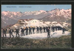 AK Grenzbesetzung 1914, schweizer Gebirgsinfanterie