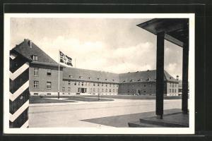 AK Bremen-Grohn, Kaserne mit Reichskriegsflagge mit