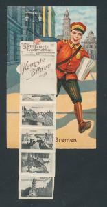 Leporello-AK Bremen, Freihafen, Weser-Wehr, Grosse Weserbrücke, Zeitungsverkäufer Illustrierte Nachrichten