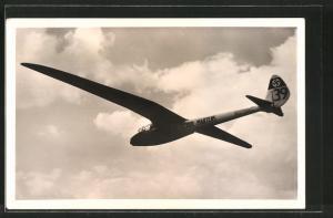 AK Deutscher Segelflug, Hochleistungs-Segelflugzeug Condor im Fluge,