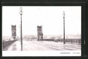AK Warschau-Warszawa, 3-ci most, Brücke