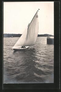 AK Stockholm, Olympiade 1912, Segelboot Nurdug II, Segelsport