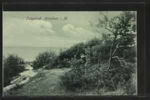 AK Ostseebad Arendsee, Dünenlandschaft vor dem Strand