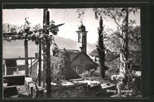AK Brione s. Locarno, Ortspartie mit Kirche