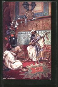 AK Les Musiciens, Nordafrikanische Musiker, Mauren