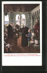 AK Bregenz, St. Gebhardskirche auf dem Gebhardsberg, Deckengemälde