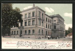 AK Schaffhausen, Strassenpartie an der Mädchenschule