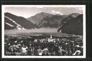 AK Alpnach, Ortsansicht gegen Bürgenstock und Rigi