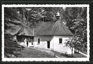 AK Flüeli-Ranft, Ranftkapelle mit Zelle des heiligen Niklaus v. d. Flüe
