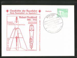 AK Geschichte der Raumfahrt, Vom Feuerpfeil zu Sputnik 1, Robert Goddard, Raketenpionier