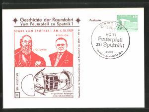 AK Geschichte der Raumfahrt, Vom Feuerpfeil zu Sputnik 1, Ziolkowski und Koroljow, Sputnik 1