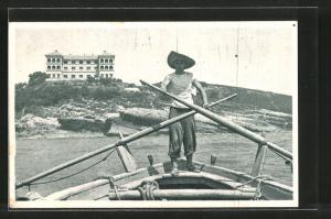 AK Ulcinj, Blick vom Boot zum Ort
