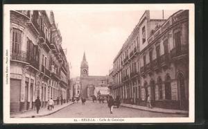 AK Melilla, Calle de Canalejas, Strassenpartie