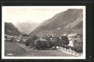 AK Ambri, Ortspartie und Blick auf das Gebirge