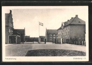 AK Oldenburg, Kaserne der Flakabteilung, Reichskriegsflagge mit