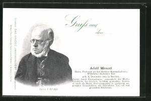 AK Adolf Menzel, Maler und Professor an der Berliner Kunstakademie