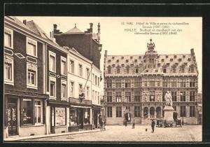 AK Hal, Hotel de Ville et statue du violoncelliste Servais