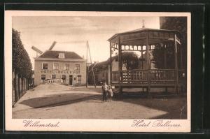 AK Willemstad, Blick zum Hotel Bellevue