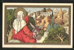 Künstler-AK Jésus pleure sur Jérusalem, Jesus verabschiedet sich von Jerusalem