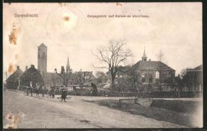 AK Barendrecht, Dorpsgezicht met Kerken en Watertoren, Wasserturm