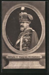 AK Wilhelm II. König von Württemberg, Husar