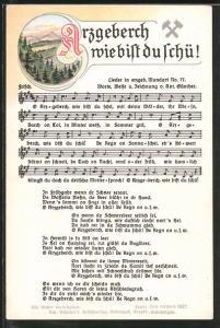 Lied-AK Anton Günther Nr. 77: Arzgeberch wie bist du schü!, Liedtext und Noten